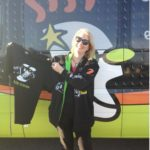 RuthAnn Hogue participates in GoDaddy Cares Charity Walk to find a cure for juvenile diabetes.